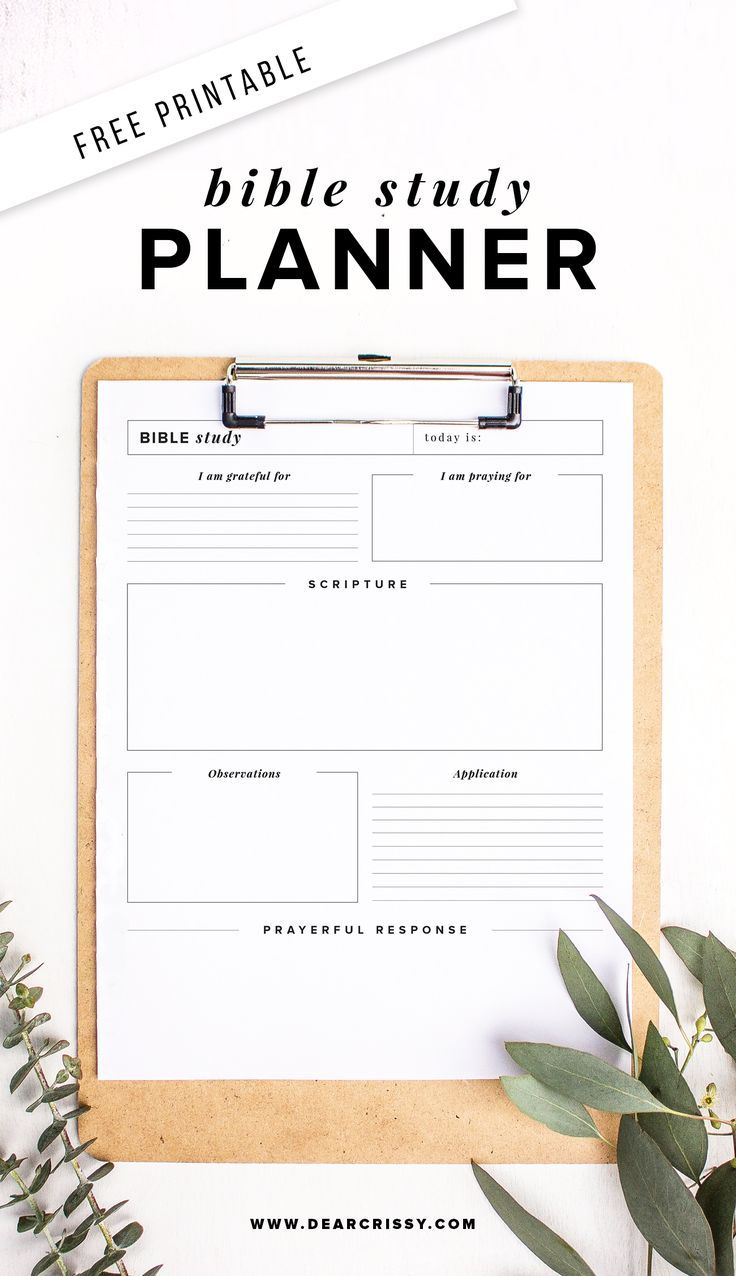 Clean image pertaining to study planner printable