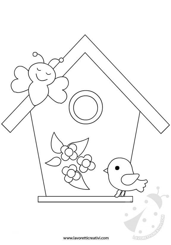 Sagome Primavera Casetta Uccelli