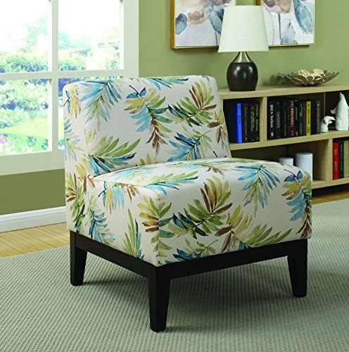 Best Coaster Home Furnishings 902614 Leaves Print Accent Chair 640 x 480