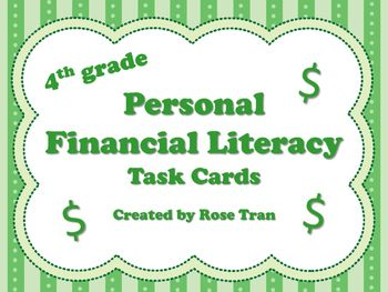 Hey, fourth grade teachers! Looking for some resources to help you teach the NEW Personal Financial Literacy standards? Here's a set of 40 task cards that will help your students master the NEW Personal Financial Literacy TEKS! They are written in a way for students to understand these complex and new TEKS.