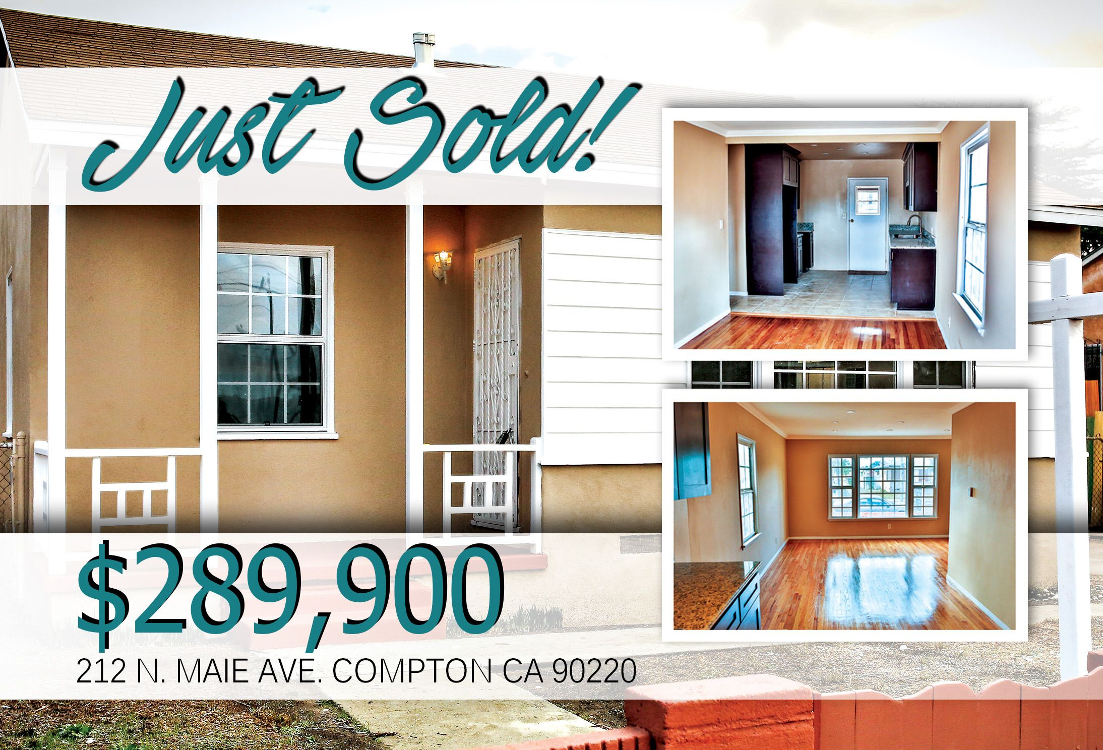 Another Just Sold!  JM Realty Group just sold another one in Compton in less than 90 days! When we first debuted this property we knew it was going to go
