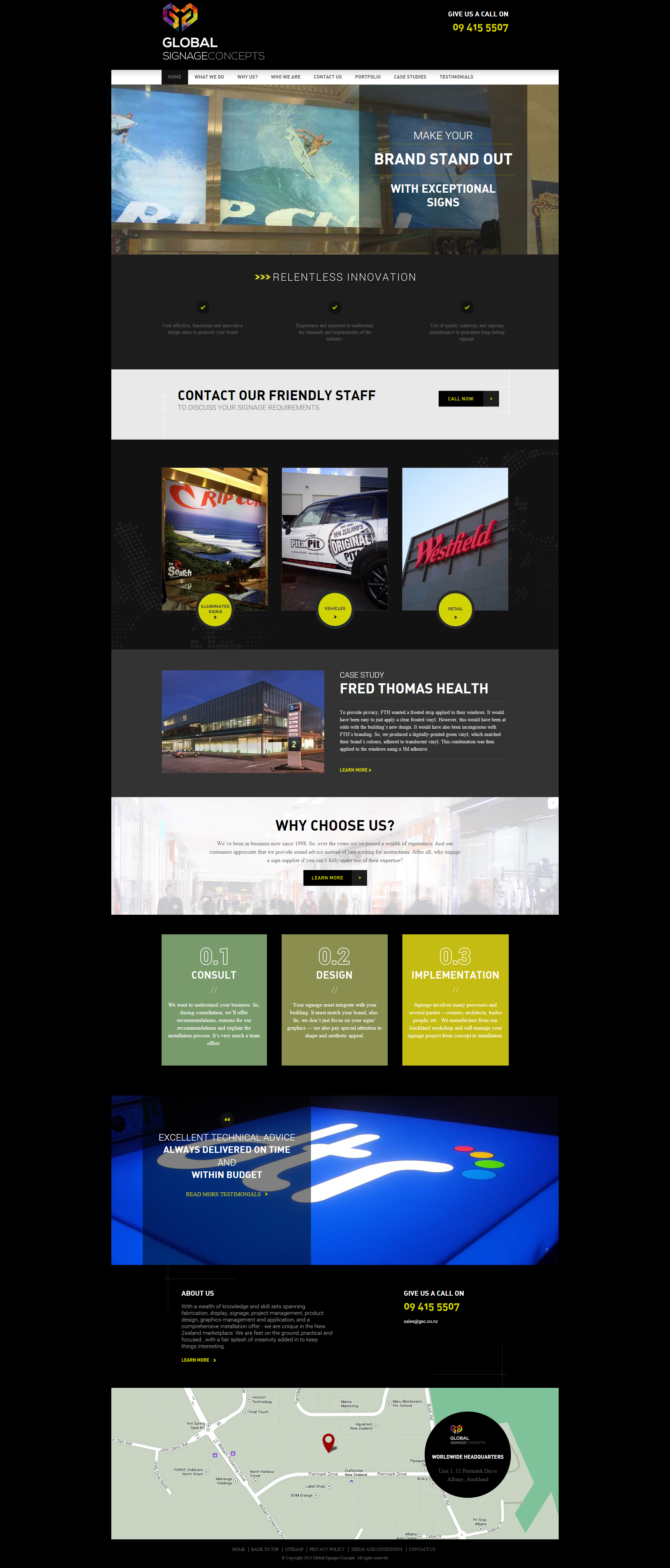 A Zeald Website Has Helped Global Signage Concepts Http Www Gsc Co Nz To Achieve Their Business Dream Visit Ww Website Design Website Redesign Web Design