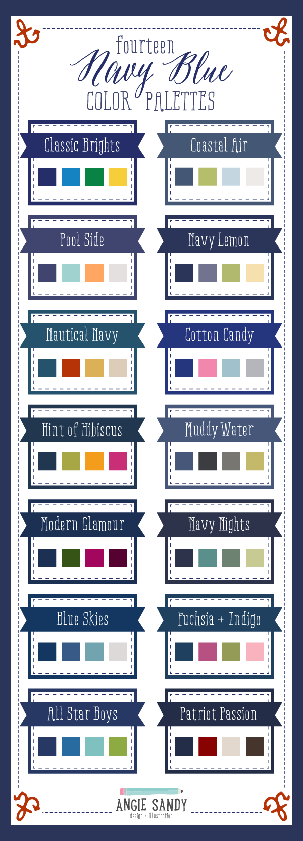 14 Navy Blue Color Palettes