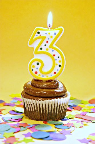 Vegan Chocolate Cupcake Topped With My Sons Number 3 Birthday Candle Wow Has It Really Been Three Years Since I Started This Blog