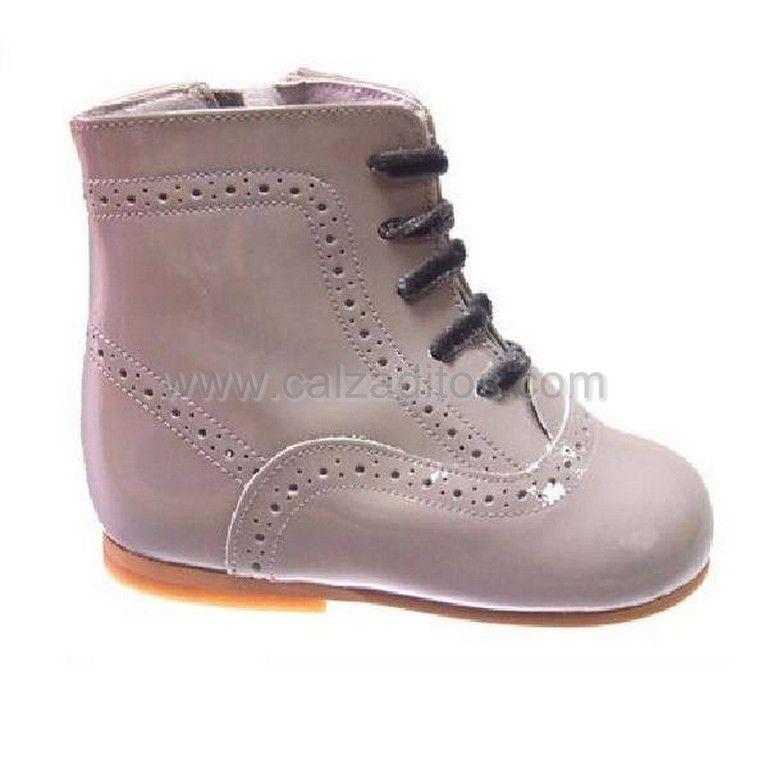 2bd9f4f1e botas pascualas charol gris