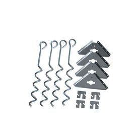 Arrow Galvanized Steel Storage Shed Anchor Kit Ak600