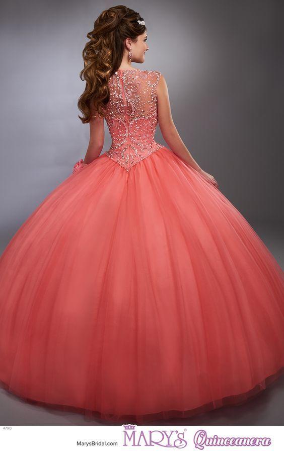 Vestido De 15 Años Color Coral Vestidos Para Quinceañera
