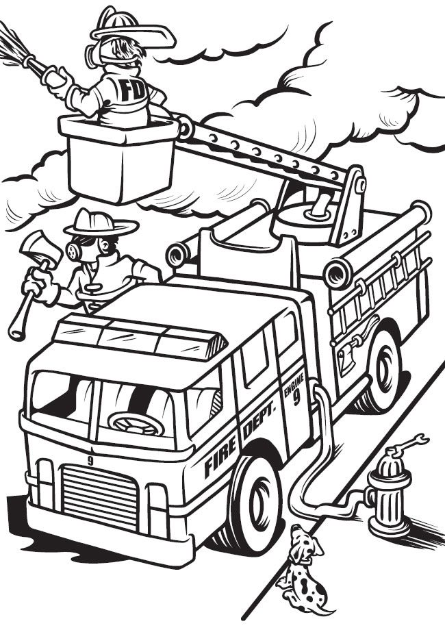 trucks and trains coloring pages - photo#11