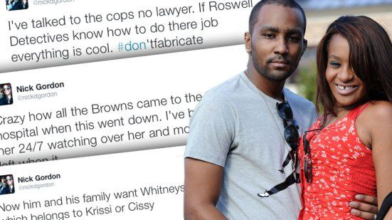 Bobbi Kristina Brown — Nick Gordon Tweets He'll Be Cleared By Police | Radar Online