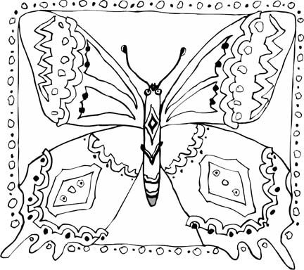 1000+ images about Coloring pages Butterflies on Pinterest ...