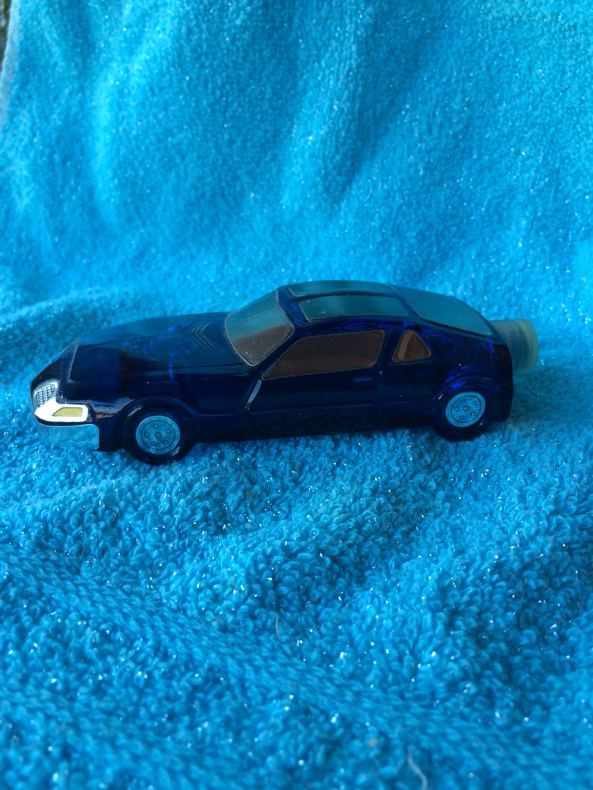 Vintage Avon 1970's Blue Car Wild Country After Shave Blue