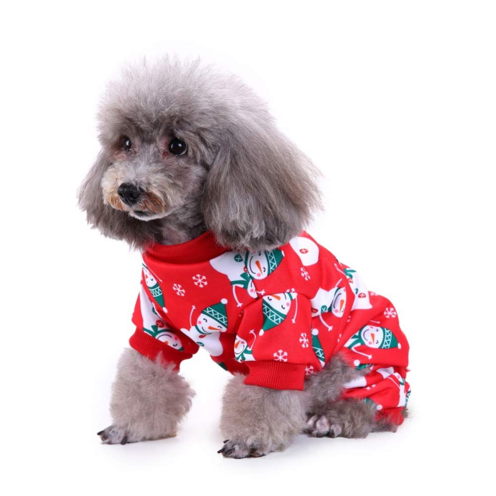GSPet Cute Snowman Deer Pet Dog Puppy Christmas Apparel