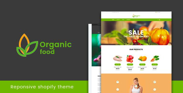 Organic Food Responsive Shopify Theme Template And Website Themes - Shopify product template
