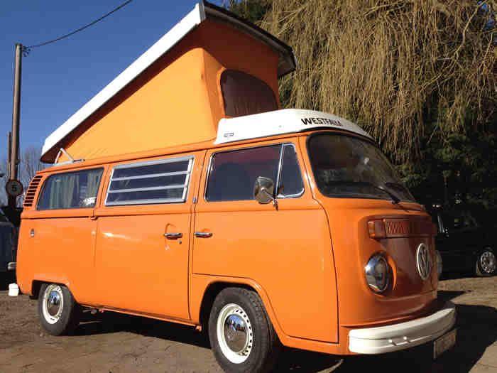 Orange Pop Top Vw Classic Vw Van Volkswagen Minibus
