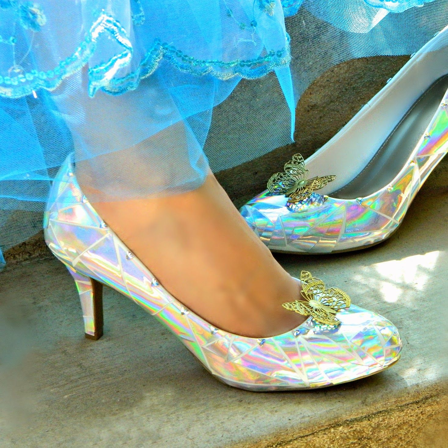 Mark Montano Cinderella s Glass Slippers DIY This would be easy