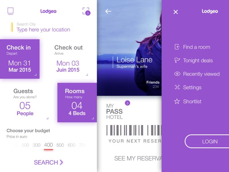 Lodgeo Booking App Booking app, Sketch free, Sketch app