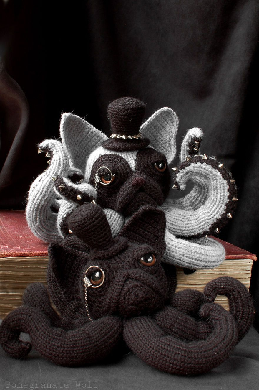 Crochet Octodogs Based On Different Dog Breeds. Combination of two of my favorite things! Who knew?