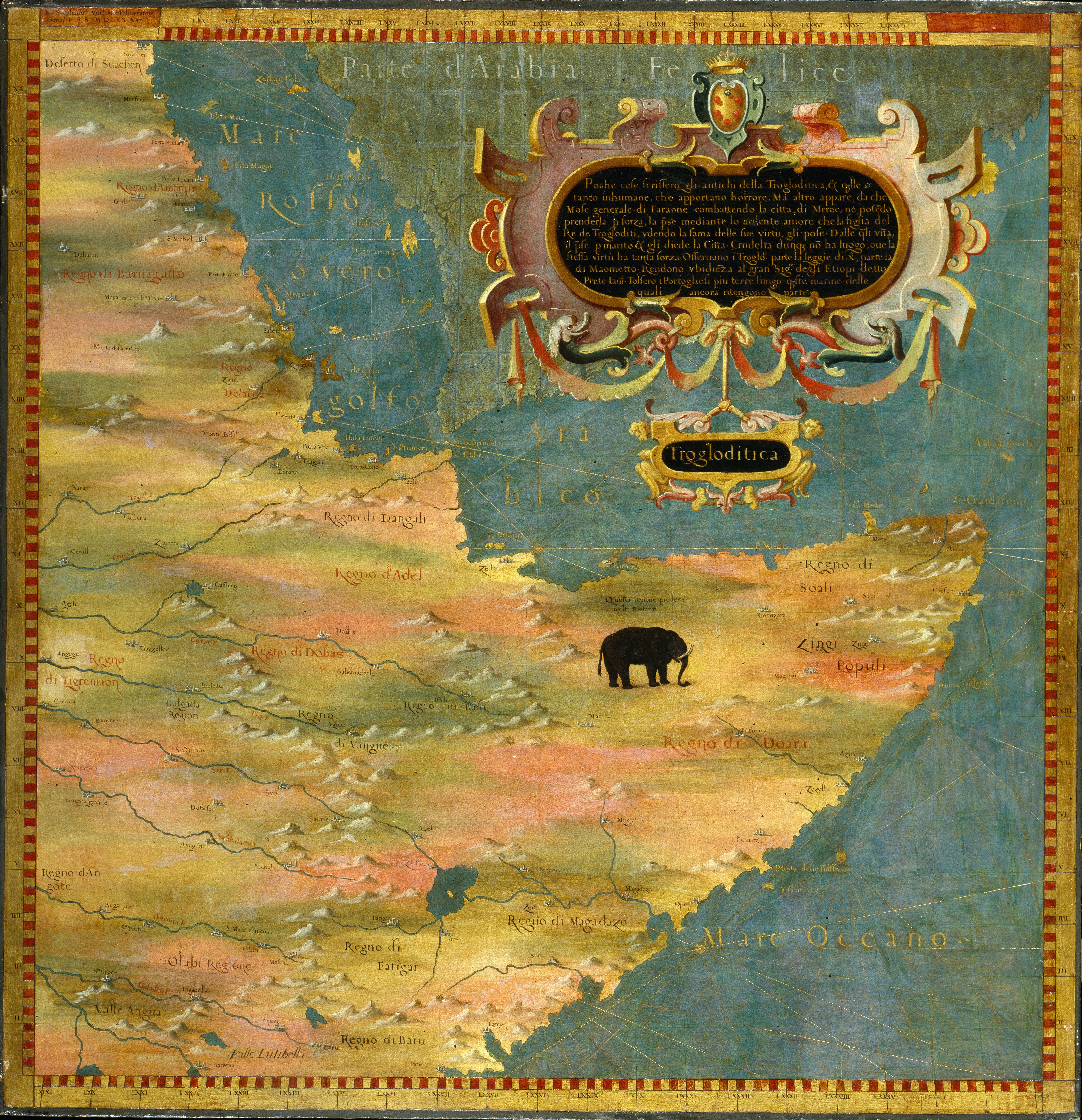 Horn of Africa by Stefano Bonsignori 1579