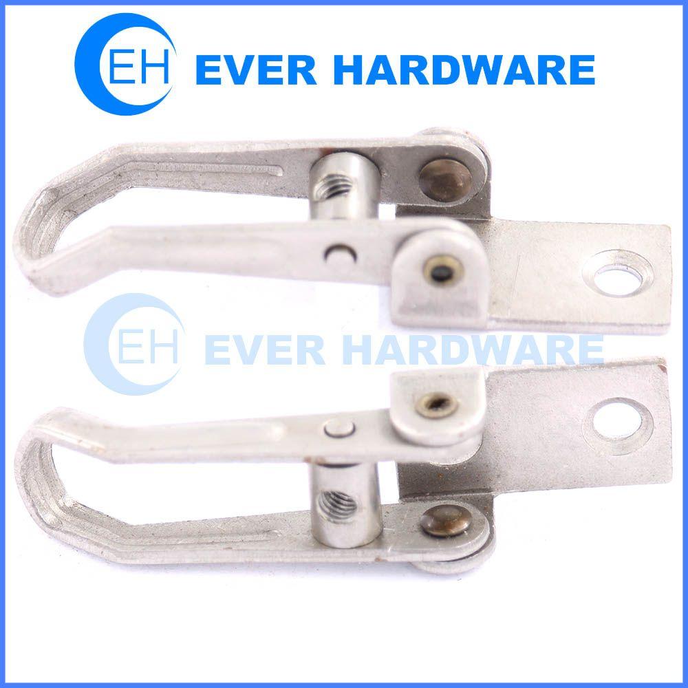 Hinge lock metal gate hardware freezer door hinge and latch