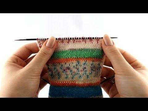 How to Knit Socks #3 Heel Flap - YouTube