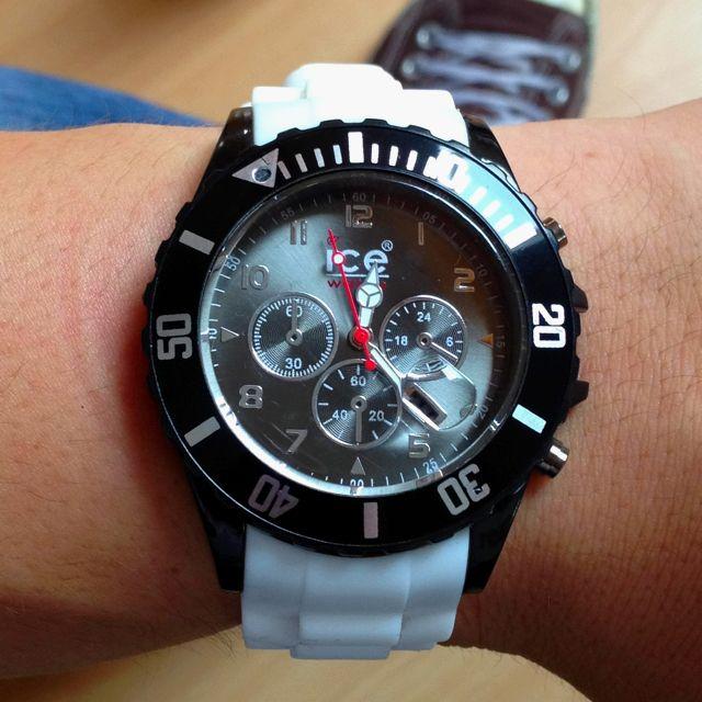 my ice watch chrono white black janos watches pinterest. Black Bedroom Furniture Sets. Home Design Ideas