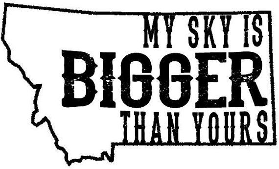 My Sky Montana Mason Jar by HollidayGlass on Etsy