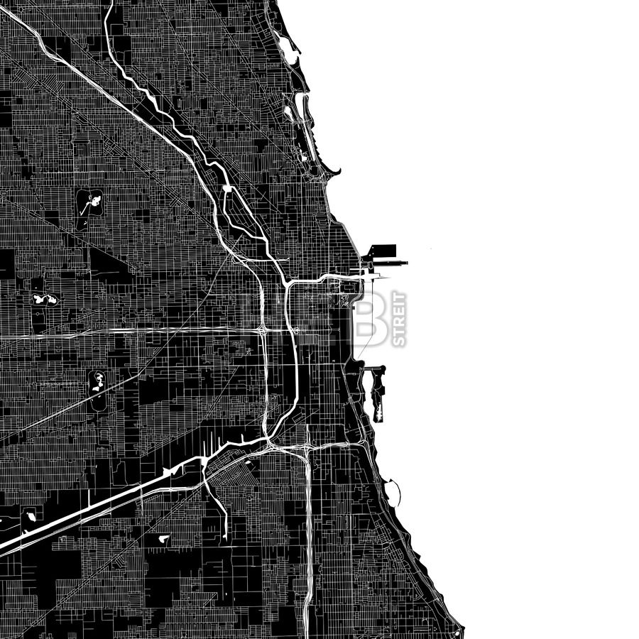 Chicago USA Download PDF Map Chicago usa and Infographic