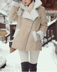 $20.38 Casual Style Long Sleeves Tailored Collar Color Block Coat For Women