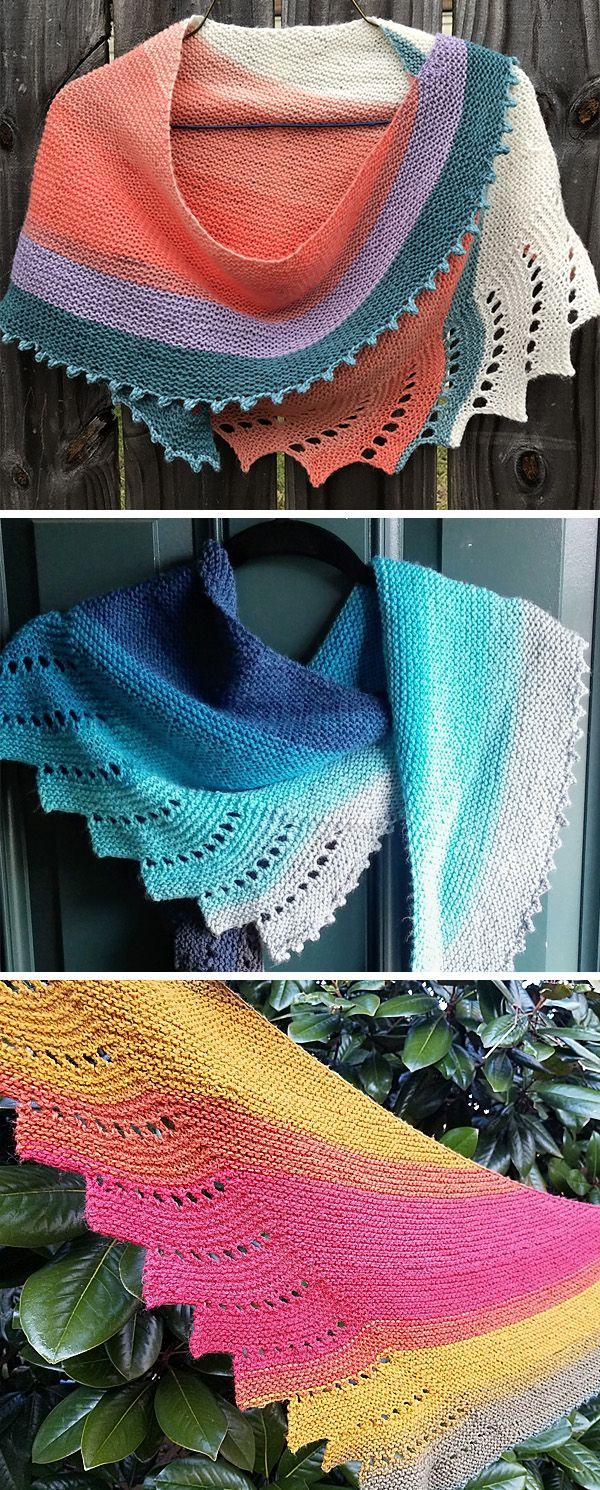 Photo of Self-Striping Shawl Knitting Patterns