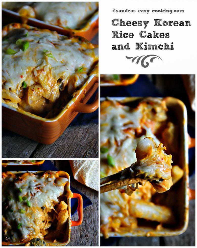 Cheesy rice cakes and kimchi rice cakes cheesy rice