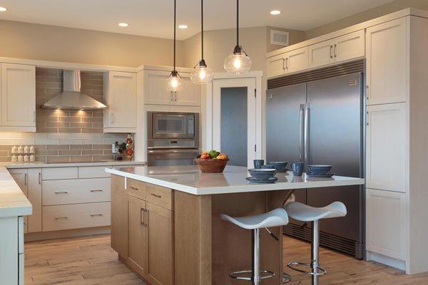 White Kitchen With Maple Island Kitchen Layout Plans Kitchen Gallery Kitchen Bathroom Remodel