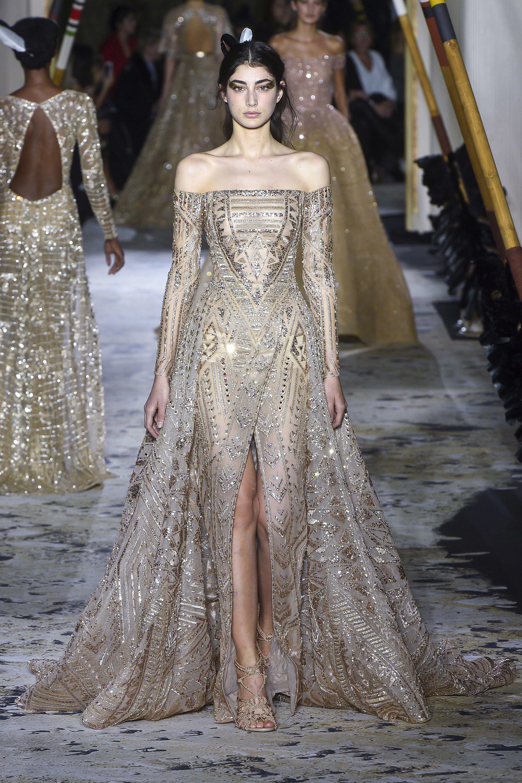 Zuhair murad spring couture elegant and exquisite off shoulder