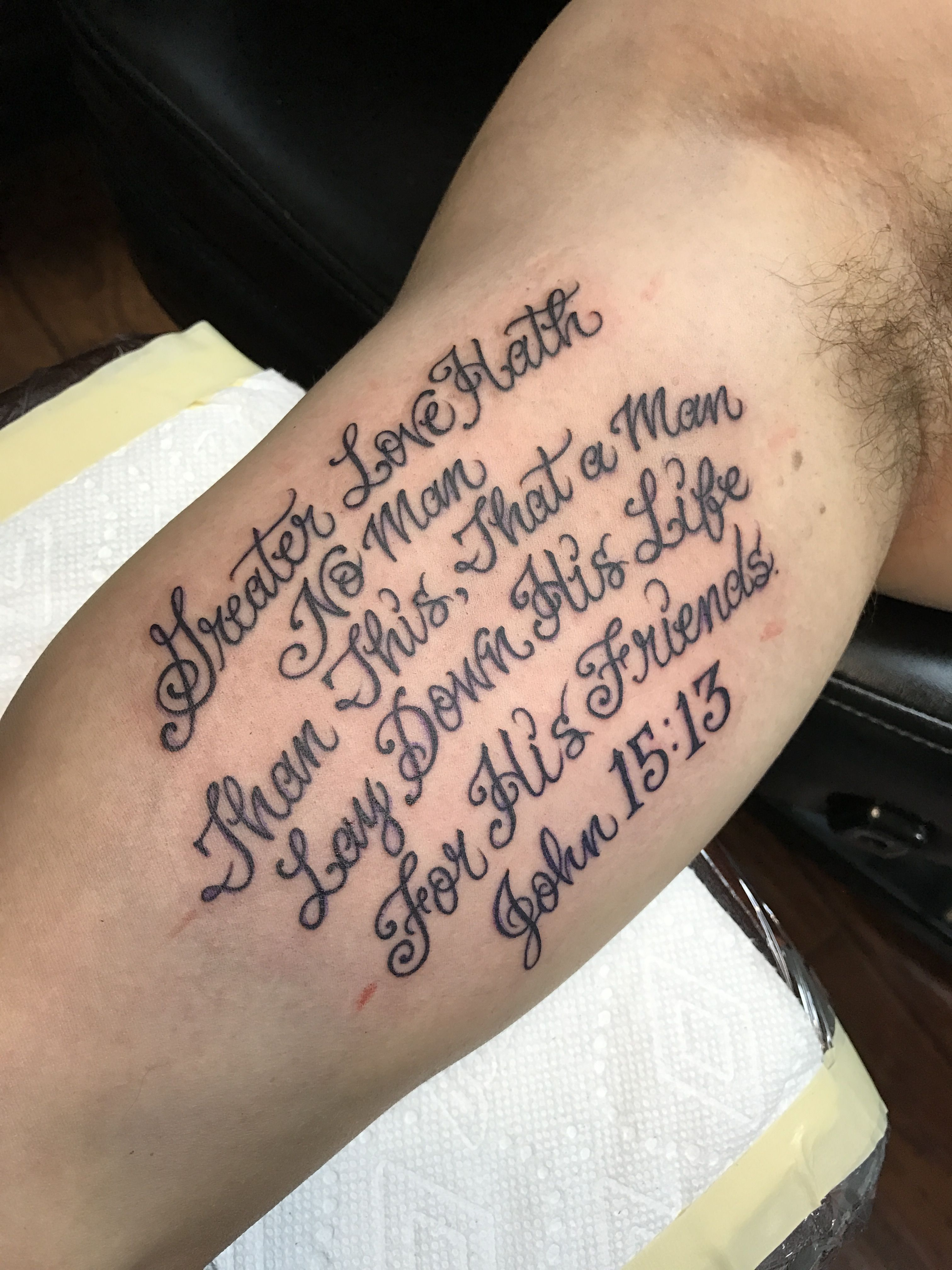 John 15 13 Bible Verse Tattoos Verse Tattoos Tattoos For Guys
