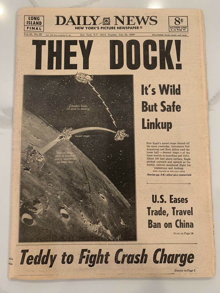 July 22, 1969 New york daily news, Vintage newspaper