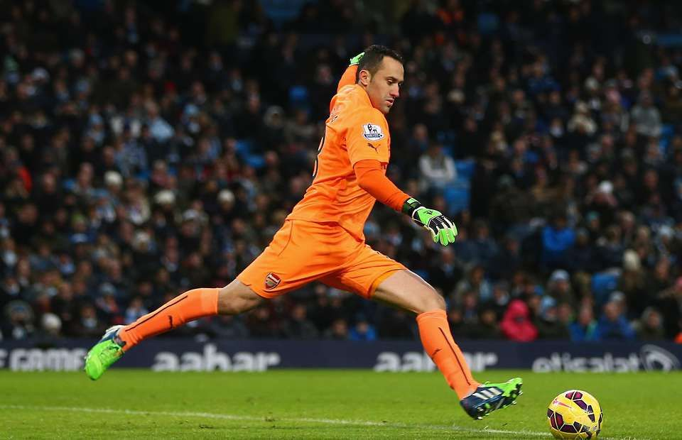 Arsenal goalkeeper David Ospina, played really well against Everton.