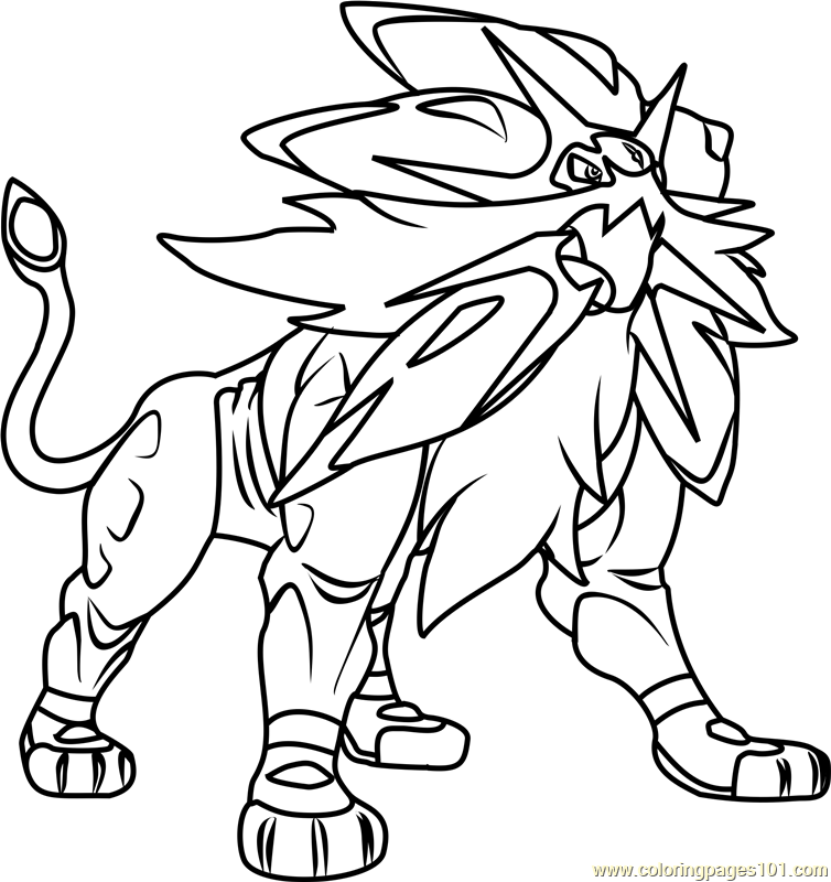 Solgaleo Pokemon Sun And Moon Coloring Page Moon Coloring Pages Pokemon Coloring Pokemon Coloring Pages
