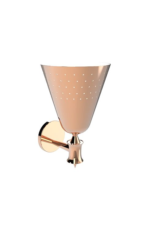 Charles fixture lamp is a pure 50's stilnovo design. With 1 or 2 aluminium cones, this wall lamp is even more beautiful when you light it on. It has a vintage and luxurious look that can be applied in any area of your home.