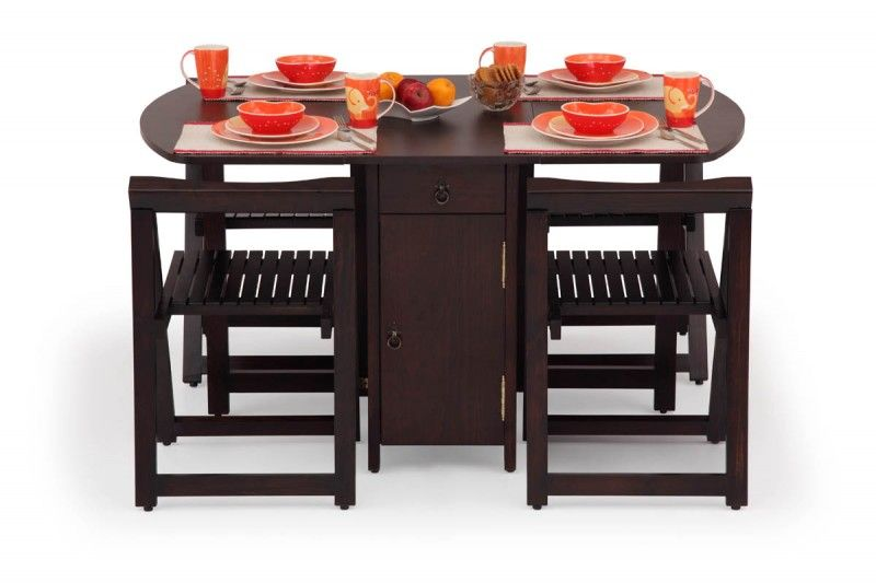 Buy Folding Dining Table Set Online 4 Seater Wooden Dining
