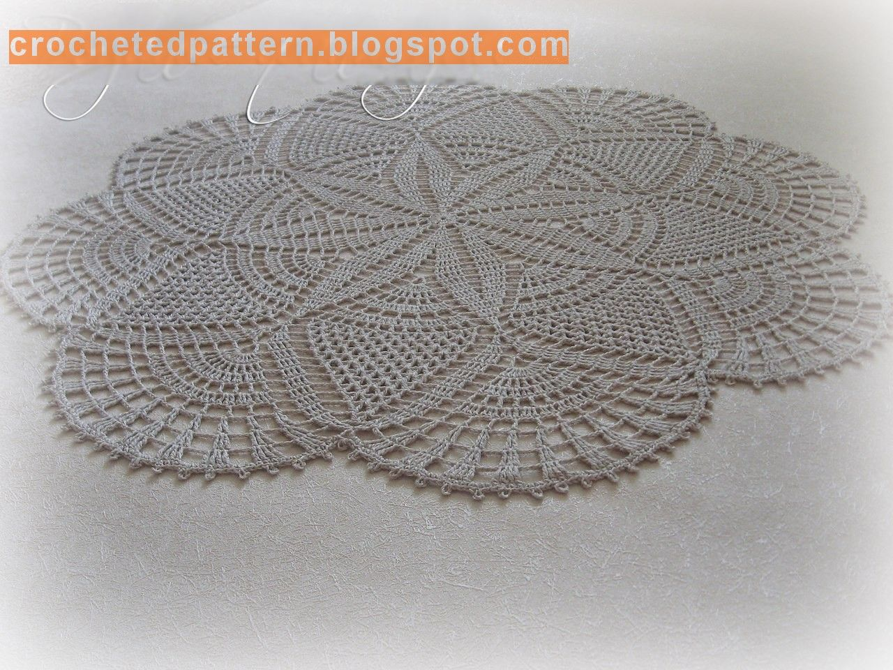 Crochet Pattern باترون مفرش كروشيه دائري Crochet Tablecloth Crochet Patterns Crochet