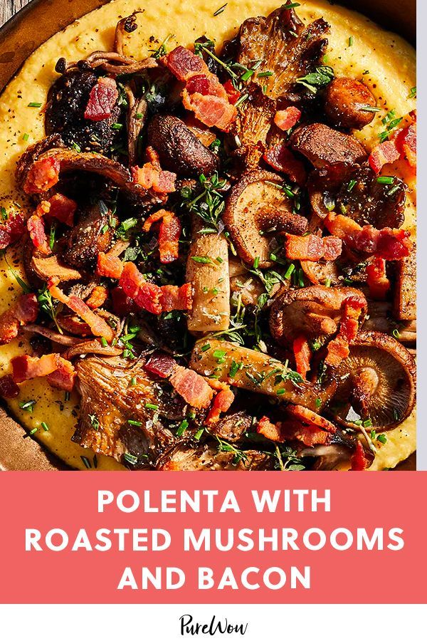 with Roasted Mushrooms and BaconPolenta with Roasted Mushrooms and Bacon