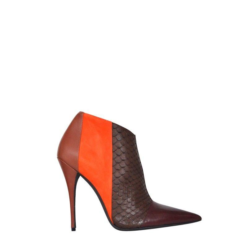 Narciso Rodriguez Sarah Bootie - Orange Booties - ShopBAZAAR