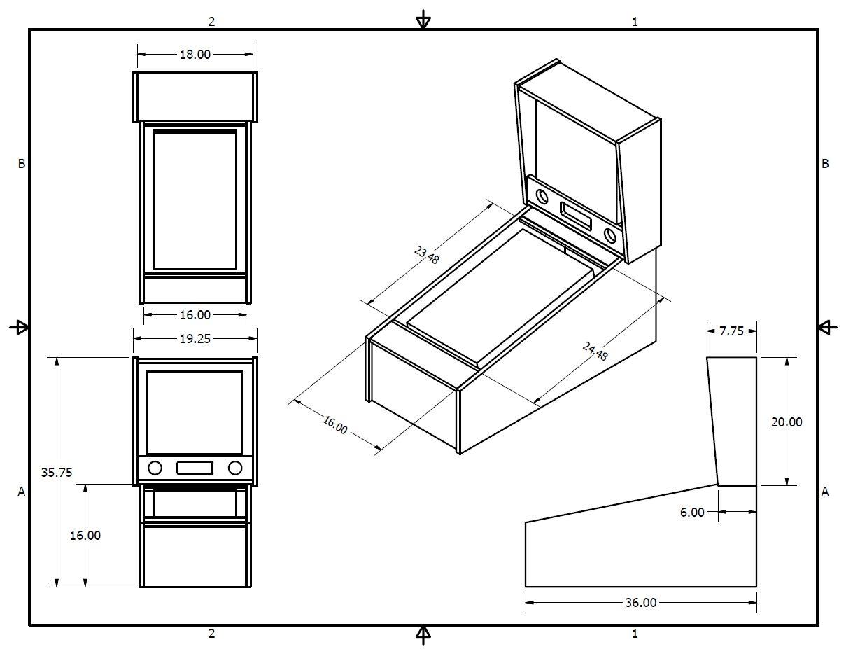 Virtual Pinball Cabinet Plans Completed Tredog S Mini Pin Arcade Cabinet Virtual