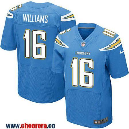 Men's San Diego Chargers #11 Stevie Johnson Light Blue Alternate NFL Nike Elite Jersey