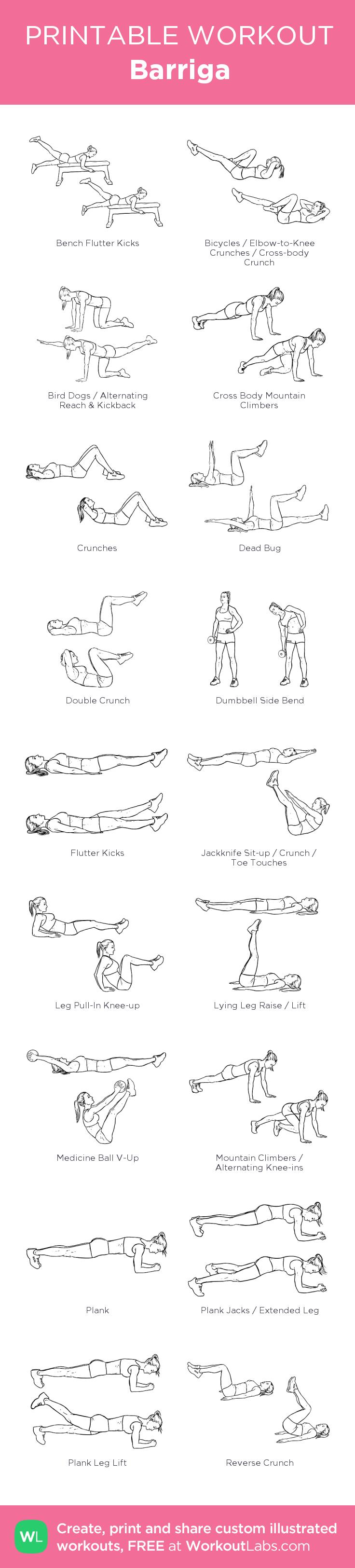 Barriga: my visual workout created at WorkoutLabs com