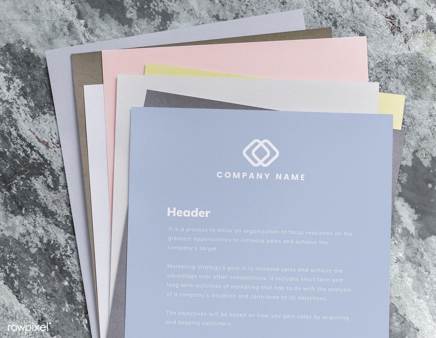 Download Premium Psd Of Stack Of Colorful Papers Mockup 531974 Paper Mockup Business Card Mock Up Brochure Design Template