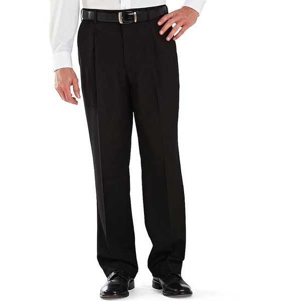 Stafford® Year-Round Pleated Pants - jcpenney via Polyvore