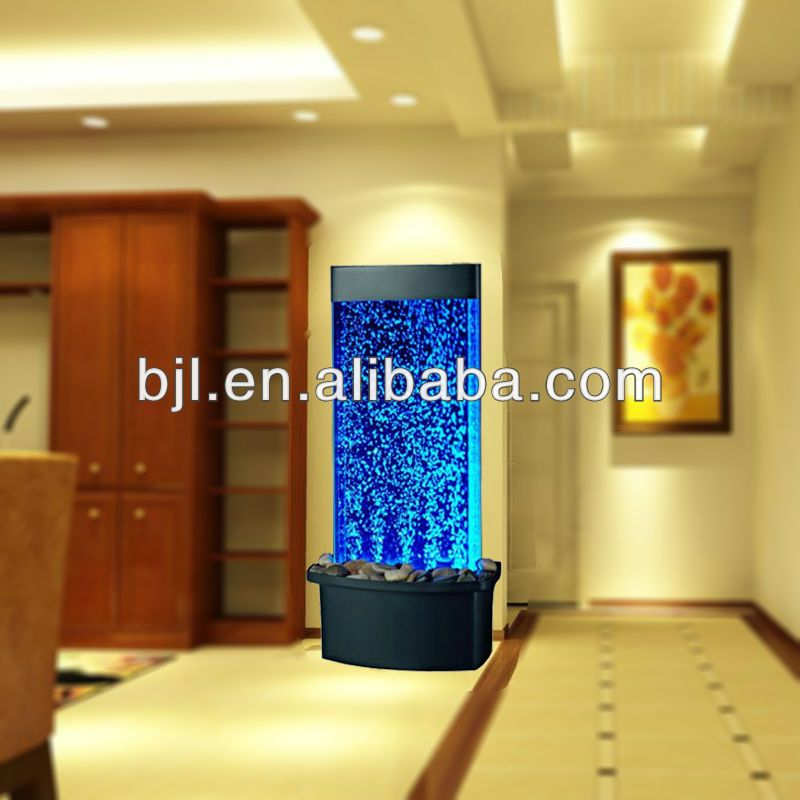Glass Waterfall Room Divider Led Crystal Lamp Bubble Column Wall