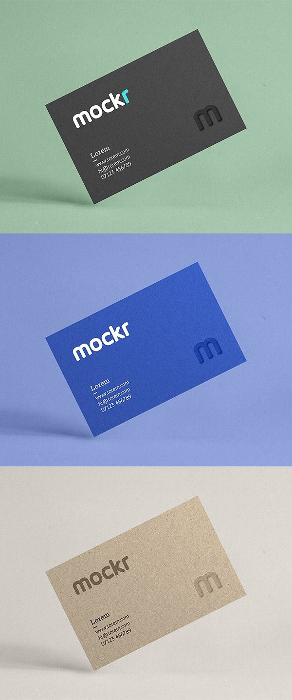Realistic Business Card Mockup Templates (20+) | Business ...