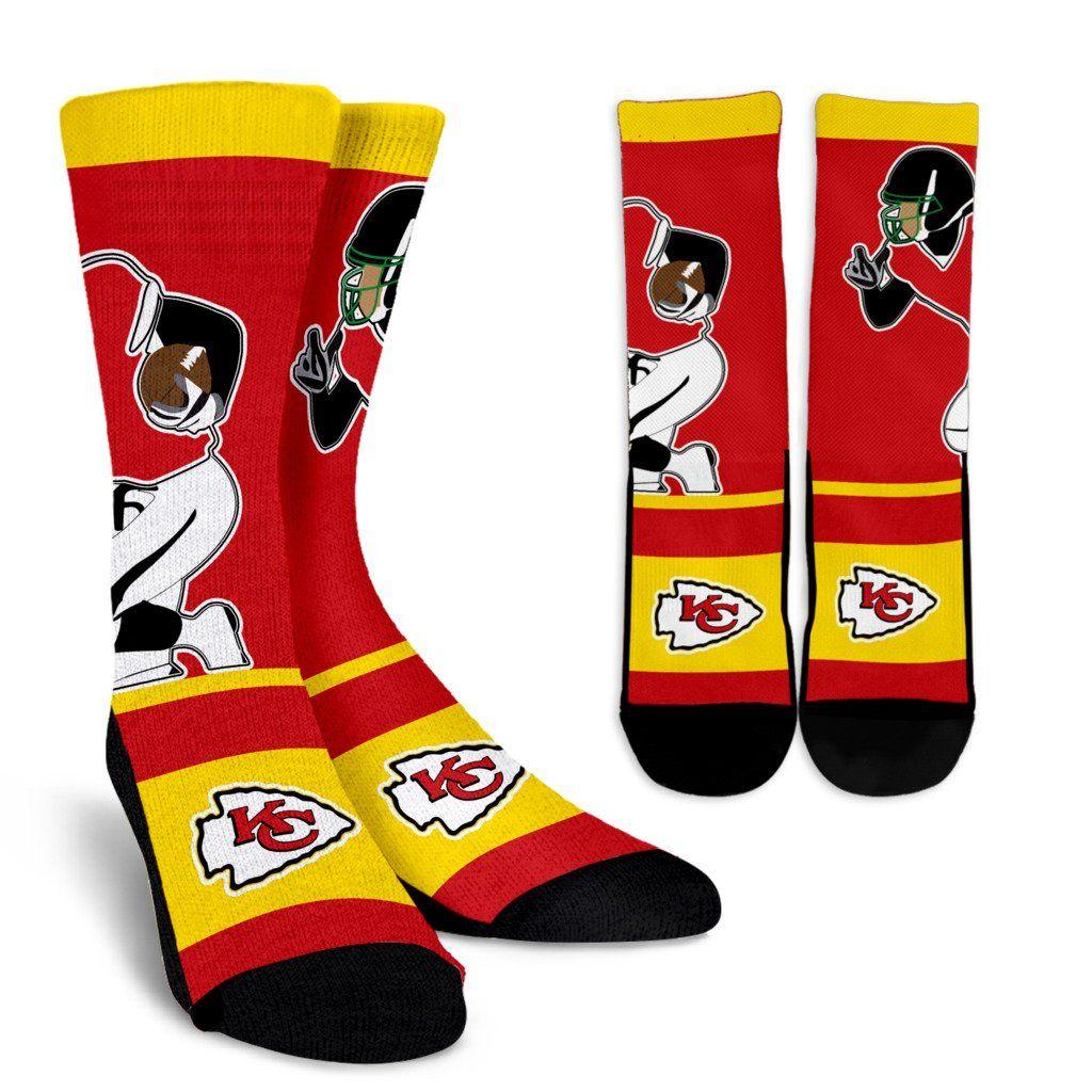 773fc61b Talent Player Fast Cool Air Comfortable Kansas City Chiefs Socks ...