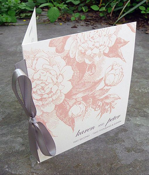 Rose  Scrolls Booklet Program Template  Booklet Template Wedding